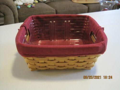 Longaberger Small Storage Solutions Basket Set EUC