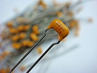 100 Sprague 1c10c0g220j100b 22pf 100v Monolythic Radial Lead Capacitor