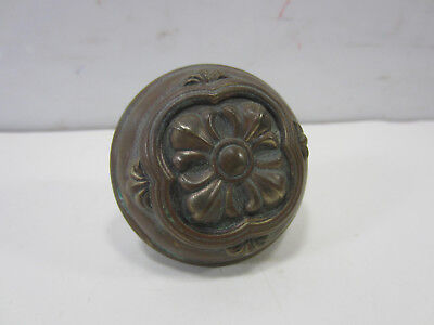 Vintage Center Floral Design Brass Door Knob Brass Center Door Knob