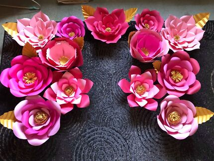 Paper 3d flowers art gumtree australia parramatta area holroyd paper flower mightylinksfo