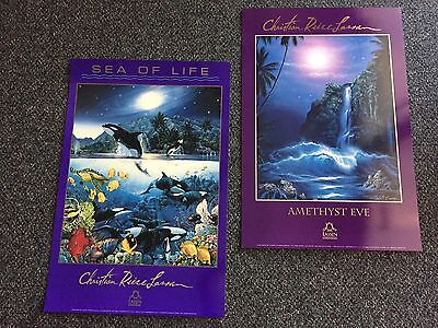 "Christian R. Lassen 2 Art Posters: ""AMETHYST EVE"" & ""SEA OF LIFE""  new"
