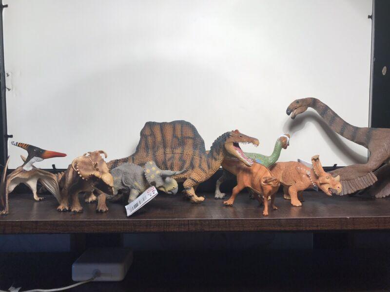 Safari LTD Dinosaur Toy Lot- Spinosaurus, Ceratopsians, And More!