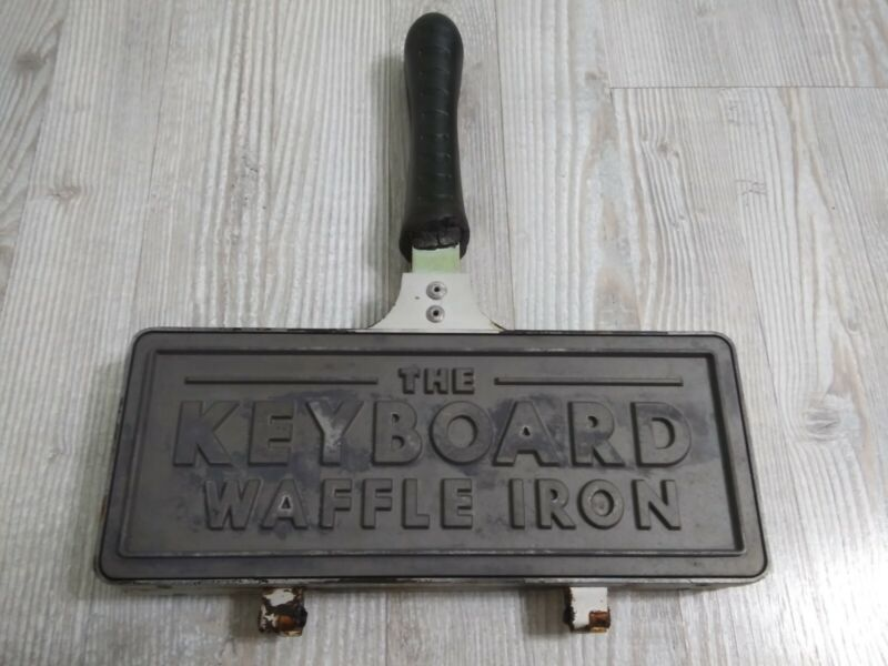 The Keyboard Waffle Iron Maker Mold Die-Cast Aluminum