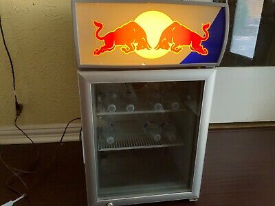 Red Bull Mini Refrigerator Baby Cooler W-2n Man Cave Bar Beer Coole