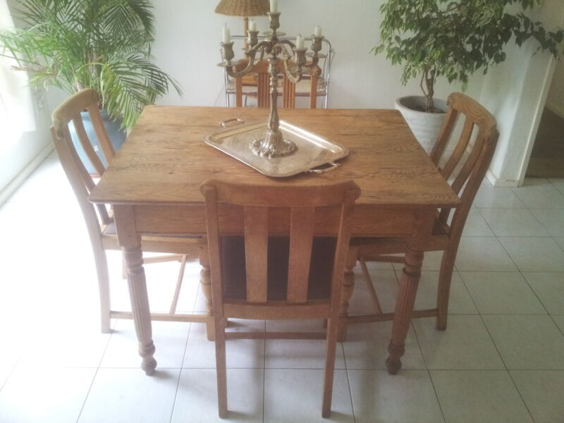 Antique Diining Table and chairs