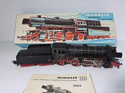 Vintage Marklin HO Locomotive and Tender, #3005 - New Old Stock - West Germany