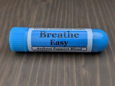 Easy Inhaler - BREATHE EASY Essential Oil Personal AROMATHERAPY Inhaler: Asthma Support Blend