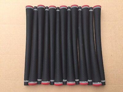 13 New Lamkin Exotics UTX Black Golf Grips with Red Cap Men's Round