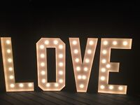 Love marquee letters for rent