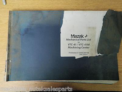Mazak Mechanical Parts Listvtc-41 Vtc-41m Machining Centerc430la0013e