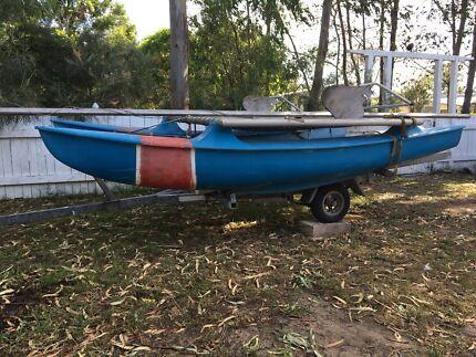 Hobycat sailing catamaran