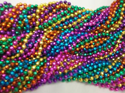 12 Disco Ball Global Sparkle Mardi Gras Beads Necklaces Party Favors 1 dozen Lot