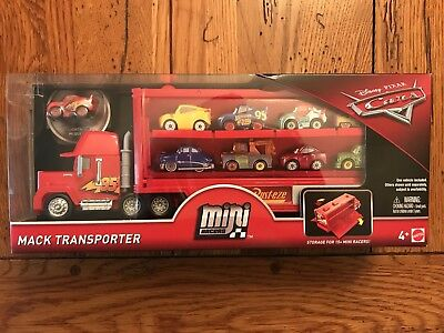 Disney Pixar Cars 3 Mini Racers MACK TRANSPORTER Lightning McQueen 95 In Stock