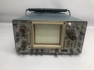 Tektronix 465 Original Oscilloscope 100 Mhz Bandwidth 75 Watts 1a 115v 60h