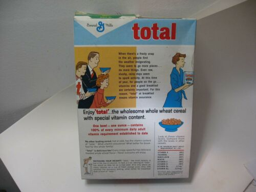 OLD GENERAL MILLS COMPANY CO TOTAL CEREAL BOX MINNEAPOLIS MINN