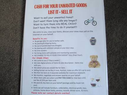 $$$ Cash For Your Unwanted Items List It Sell It $$$ Woodcroft Morphett Vale Area Preview