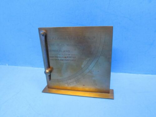 brass inclinometer marked Glaholn & Robson Ltd Wire Rope Mfrs Sunderland England