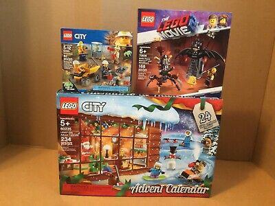 LEGO CITY 60235 ADVENT CALENDAR & LEGO CITY 60184 MINING TEAM & LEGO MOVIE 70836