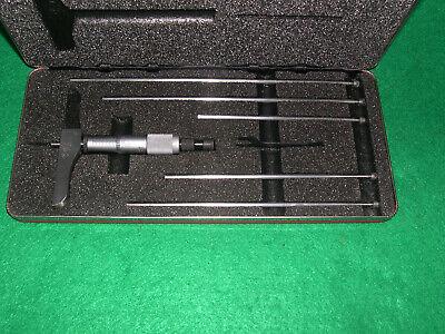 L. S. Starrett 443z 0-6 Micrometer Depth Gage N Case