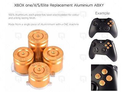 GOLD XBOX one/X/S Elite Microsoft Aluminium ABXY Buttons Key Set Keypads luger