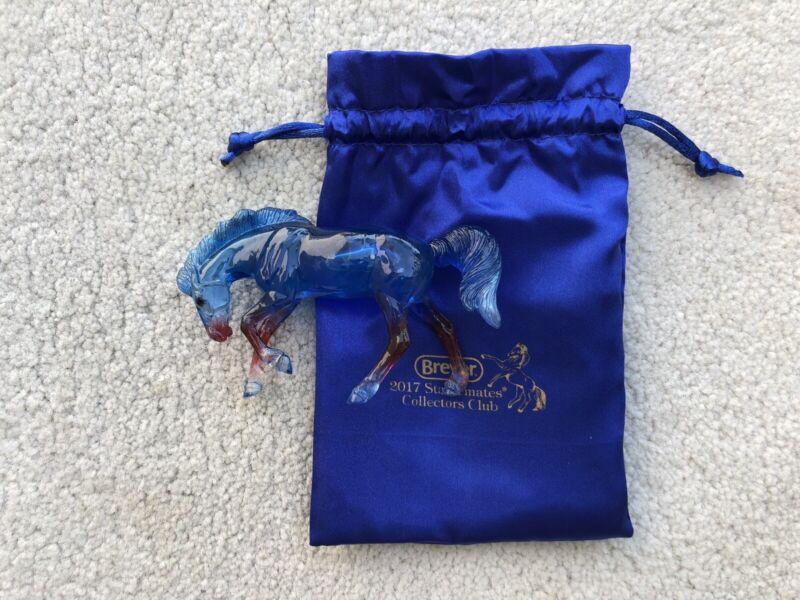 Breyer Horse Stablemate Collector's Club #712218 Allegiance Clearware Rivet G4