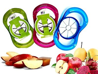 Apple Slicer Cutter Corer 8 Slices with Push Handle Available 3 Colour