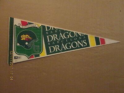 World League Barcelona Dragons Vintage Football Field Logo Football Pennant