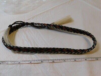 horse hair cowboy hat band braided horsehair Western Decor red black tassel