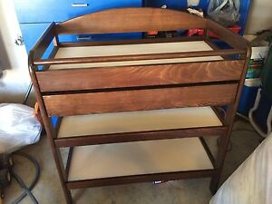 Wood baby change table