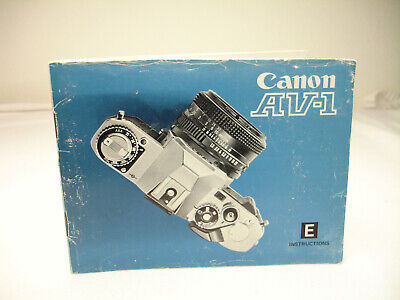 CANON AV-1 camera INSTRUCTIONS, OWNERS MANUAL , covid 19 (Canon Camera Owners Manual coronavirus)