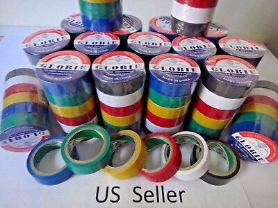 12 Rolls 30 Ft General 0.7 Inch Vinyl Pvc Color Insulated Electrical Tape Usa