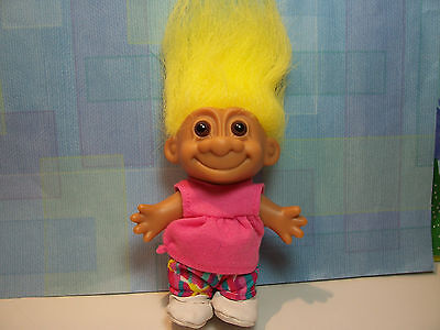 "5/"" Russ Troll Doll NEW IN ORIGINAL WRAPPER #1 MANICURIST w//PAINTED TOE NAILS"