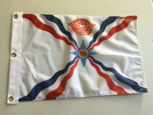 """12"""" x 18""""  ASSYRIA FLAG NEW ASSYRIAN FLAGS 12x18 BANNER SIGN 17"""
