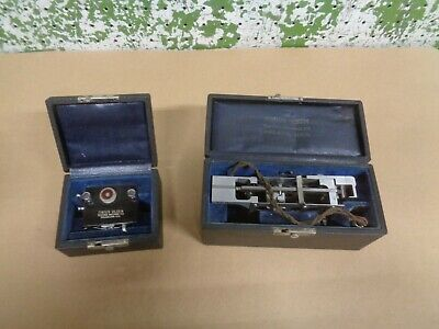 2 Vintage Tinius Olsen Testing Machine Co. Metal Density Impact Tester With Case