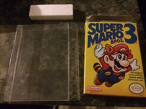 Super Mario Bros. 3 box, insert and case