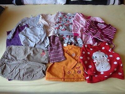 Mädchen-Kleidung (7) für Frühling/Herbst 11 Teile Gr. 74/80 (Babys Frühling Kleidung)