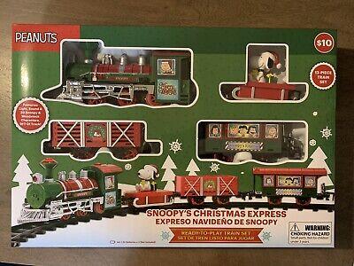 Peanuts Snoopy Holiday Express Christmas Train Set NiB
