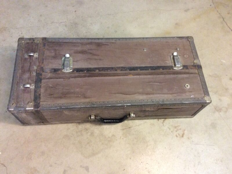 Antique Doctor Chest Case Cabinet Steamer Trunk Steampunk Medical Apothecary Old