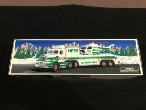 1995 Hess Toy Truck and Helicopter Lights & Sound New in Original Box w/ Insert