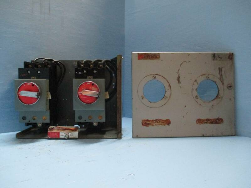 """General Electric GE 7700 70 & 100 Amp 12"""" Dual Breaker MCC MCCB Feeder Bucket"""