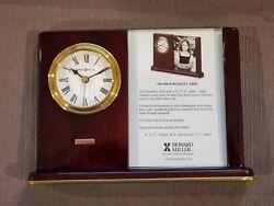 Howard Miller 645-498 Portrait Caddy Table Clock In Original Box & Instructions