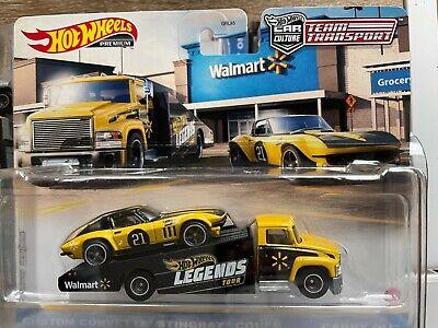 Hot Wheels 2021 Legends Tour Team Transport Corvette Walmart New