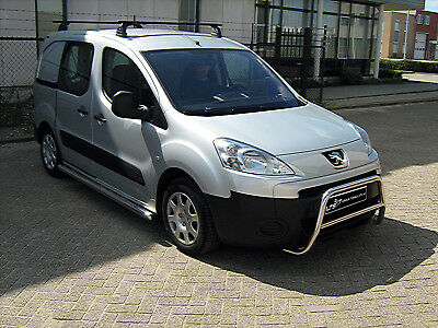 CITROEN BERLINGO PEUGEOT PARTNER CHROME NUDGE A-BAR, BULL BAR 2008-2015 W K