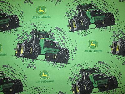 JOHN DEERE TRACTORS MUD FARM COTTON FABRIC FQ OOP (John Deere Drapes)