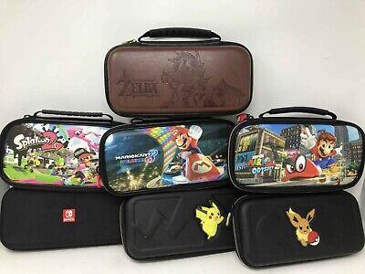 Official Nintendo Switch Deluxe Travel Case Pokemon Splatoon 2 Super Mario Zelda