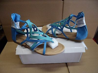 Coconuts By Matisse Womens Vacation Blue   Green Zip Up Sandals