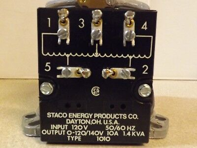 Staco Variable Autotransformer Type 1010
