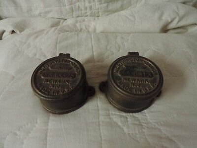 Two Worthington Gamon Meter Co Newark Nj Vintage Water Utility Cap