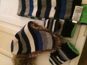 Ensemble d'hiver Chapeau, foulard et mitaines