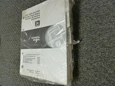 John Deere 450h 550h 650h Crawler Dozer Shop Service Repair Manual New Tm1744